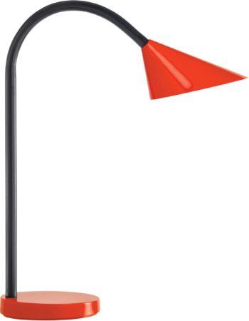 Afbeelding van False Unilux bureaulamp sol ledverlichting, felxibel. hoogte 45 cm rood