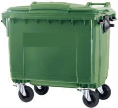 Ese 4 wiel afvalcontainer 660 liter groen