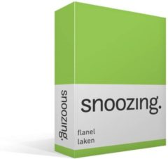 Snoozing - Flanel - Laken - Tweepersoons - 200x260 cm - Lime