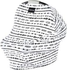 Zwarte Milk Snob Cover ARROWS | Premium autostoel luifel en hoes voor baby's | Borstvoedingsdoek & Verzorgingssjaal