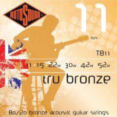 Rotosound TB11 Tru Bronze akoestische gitaarsnaren .011-.052w