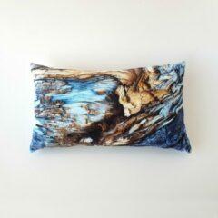 Swan Spring Raw Earth Winter Wood | Kussen | Sneeuw Blauw | Hout Bruin | 30 x 50cm