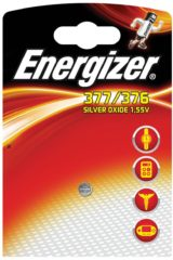 377 Knoopcel Zilveroxide 1.55 V 25 mAh Energizer SR66 1 stuk(s)
