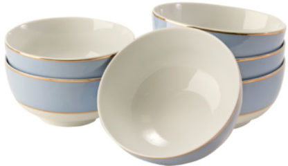 Schalen-Set Royal, 6-tlg. miaVILLA blau/weiß/gold