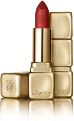 Bordeauxrode Guerlain KissKiss Matte Lipstick - M330 Spicy Burgundy - Lippenstift