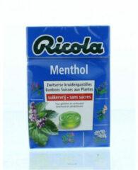 Ricola Menthol Suikervrij - 20 st - Kruidenpastilles