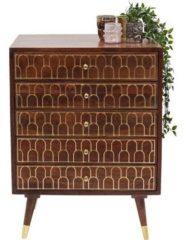 Bruine Kare Design - Ladekast Muskat 5 Laden - 80x60x40 - Mangohout