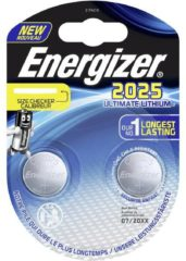 Knoopbatterij Ultimate Lithium CR 2032 Energizer - blister van 2 batterijen