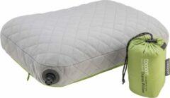 Cocoon - Air Core Pillow Ultralight - Kussen maat 40 x 55 cm, groen/grijs