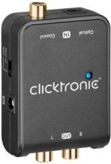 Clicktronic DAC-200 AV Converter Toslink, Digitale cinch, Cinch [1x Toslink-bus (ODT), Cinch-koppeling - 2x Cinch-koppeling] Zwart