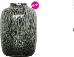 Grijze Vase The World Kara large grey cheetah / XL cheetah vaas / panter vaas