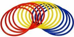 Precision Behendigheidsringen 50 Cm Rood/geel/blauw 13-delig