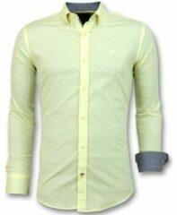 Gele Overhemd Lange Mouw Gentile Bellini Italiaanse Lange Mouw