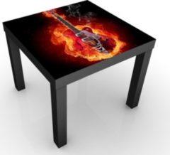 PPS. Imaging Kindertisch Gitarre in Flammen - Tisch Schwarz Rot