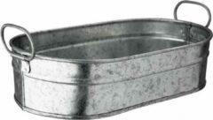 Zilveren Bar Professional Tub galvanised 15x23x7cm - wijnbucket of bierkoeler