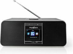 Nedis RDIN5005BK Internetradio 42 W Dab+ Fm Bluetooth® Afstandsbediening Zwart/zilver