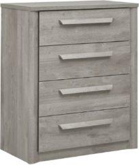 Gamillo Furniture Ladekast Eden 99 cm hoog in grijs eiken