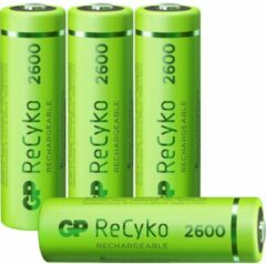 GP batterijen GP Batteries ReCyko+ HR06 Oplaadbare AA batterij (penlite) NiMH 2600 mAh 1.2 V 4 stuk(s)