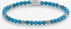 Rebel & Rose Rebel and Rose RR-40058-S-XS Rekarmband Beads Turquoise Delight Turquoise-en zilverkleurig 4 mm M 17,5 cm