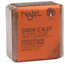 Zwarte Najel Aleppo Aleppo zeep rode klei (100 gram)