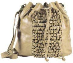 Green Burry Greenburry Loops Beuteltasche Alicia Leder 32 cm beige