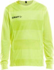 Craft Progress Longsleeve Goalkeeper Shirt Junior Sportshirt - Maat 122 - Unisex - geel Maat 122/128
