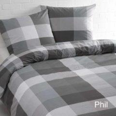 Grijze Day Dream Phil - Dekbedovertrek - Tweepersoons - 200x200/220 cm + 2 kussenslopen 60x70 cm - Zwart