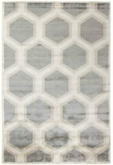 MOMO Rugs - Cosmou Decor Vloerkleed - 250x350 cm - Rechthoekig - Laagpolig Tapijt - Retro, Scandinavisch - Beige, Grijs