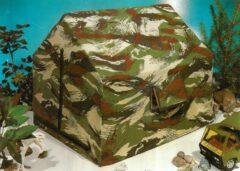 Groene Playtime Speeltent voor soldaten poppen of action heroes - 40 x 40 x 45 cm - camouflagekleuren