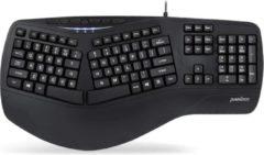 Witte Perixx Periboard 312 Ergonomisch toetsenbord met backlight en 2 USB poorten - Gesplitst design