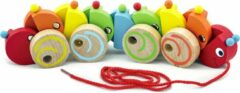 Witte Viga Toys trekfiguur duizendpoot 30 cm multicolor