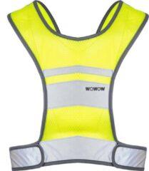 Gele WOWOW - Nova Jacket met geïntegreerde USB oplaadbaar LED licht - S - Running jacket