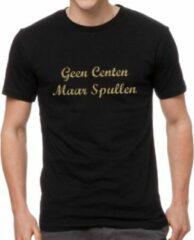 Gouden Gildan GEEN CENTEN MAAR SPULLEN Shirts printed by KOOZIE.EU Heren T-shirt Maat S