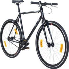 700C 28 Zoll Fixie Singlespeed Bike Galano Blade 5 Farben zur... 53 cm, schwarz/schwarz