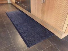 Marineblauwe JYG Vloerkleed - Keukenloper Club 66x950 - Blauw