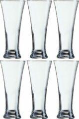 Transparante Arcoroc 12x Stuks pilsner bierglazen voor witbier/rosebier 330 ml - Bierglazen - Pilsnerglas