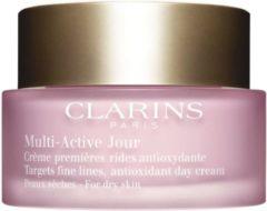 Anti-vermoeidheid Dagbehandeling Multi-active Clarins Droge huid 50 ml