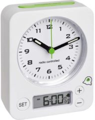 Witte TFA Dostmann Radio Controlled Wekker 60.1511.02.04 Digitaal Analoog