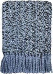Blauwe Malagoon Velvet blue plaid