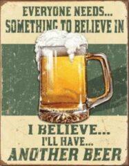 Usa Bier reclamebord en wandbord Bierglas