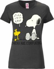 Donkergrijze Logoshirt Dames T-shirt Maat XS