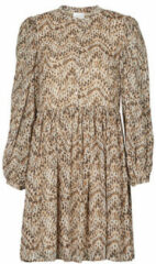 VILA blousejurk VISUNARA met all over print bruin