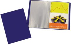 Liderpapel 5 Star showalbum, ft A4, 10 tassen, blauw