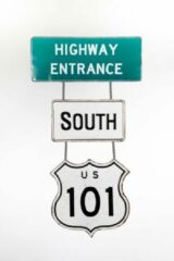 Groene Signs-USA Road-Signs - Highway 101 - retro wandbord verkeer - 73 x 40 cm