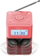 Rosa Sony Tragbares DAB / DAB+ Uhrenradio mit Stereolautsprechern »XDR-V20D«