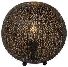Zwarte Tischleuchte Tahar in orientalischem Design