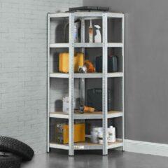 Grijze Merkloos / Sans marque Stellingkast / opbergrek - Corner Basic - 170 x 70 x 70cm