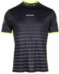 Grijze Stanno Senior sport T-shirt Fusion zwart
