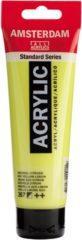 Gele Royal Talens Amsterdam Standard acrylverf tube 120ml - Azo geel citroen - halfdekkend