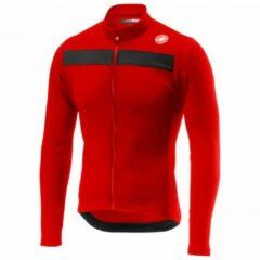 Castelli - Puro 3 Jersey Full Zip - Fietsshirt maat L rood